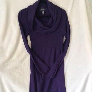 Cowl neck sweater dress.  Style & Co.  L purple